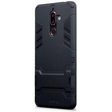 FULL Body Armour sottile custodia con supporto per Nokia 7 Nero-Plus