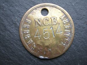 Scarce Vintage  Miners Mining Pit Check Token- FERRY MOOR COLLIERY 4514