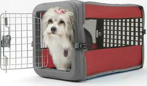 Soft Sided Pet Pooch Crate Portable Dog Kennel Travel Carrier House Bed Multi