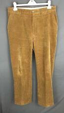 POLO RALPH LAUREN Tan Corduroy Pants Cords Flat Front Size 36