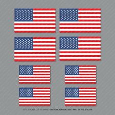 8 X American Flag Sticker Die Cut Decal America USA - SKU5461