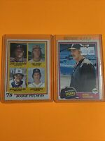 🔥 Topps Baseball Card LOT X2 84 DETROIT TIGERS ROOKIE RC HOF JACK MORRIS GIBSON