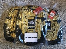 Supreme X The North Face Zaino Oro Metallico