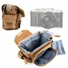 Light Brown Medium Sized Canvas Carry Bag for Olympus E-Pl8
