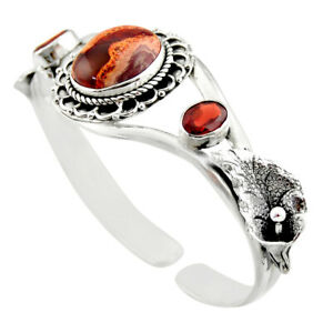 republic day sale 18.92cts mexican fire opal adjustable bangle d47201