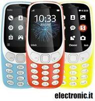 """Telefono cellulare 3310 Dual SIM GSM 2.4"""" Fotocamera 2MP SD Card"""