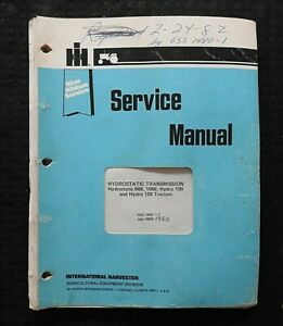 1973-80 INTERNATIONAL HARVESTER 966 1066 HYDRO 100 186 TRACTOR SERVICE MANUAL