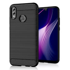 SDTEK Case for Huawei P Smart (2019) Carbon Fibre TPU Case Silicone Phone Cover