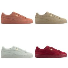 PUMA SUEDE CLASSIC TONAL TRAINERS - PUMA SUEDE 362595 - RED/CLAY/PEBBLE/FLOWER