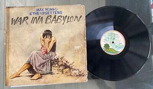 "Max Romeo & The Upsetters ""War Ina Babylon"" 1976 Nigeria Press Reggae LP Island"