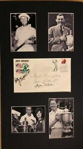 Sam Parks Paul Runyan Byron Nelson Bobby Nichols Signed Cover 13x23 COA 12/19