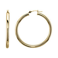 2mm Solid 10k Yellow Gold Endless Hoop Earrings Plain Hoops Real Gold All SIZES