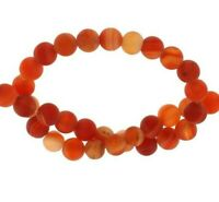 Rot 4mm Achat Perlen Matte Natürliche Streifen Edelsteine Achatstein BEST G843