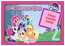 Edible My Little Pony Cake Topper A4, Round,Square,Cupcake,add photo & message