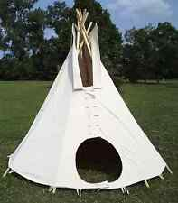 12ft. dia. SUNFORGER tipi - 100% cotton duck: Mildew, Fire, and Water resistant!