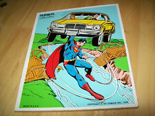 VTG WOOD PUZZLE PLAYSKOOL 15 PCS. 1976, SUPERMAN,S RESCUE, DC COMICS