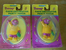 Lot of 2 Vintage Barney Cake Decorator Party Favor Cake Topper Figures 1993 NEW