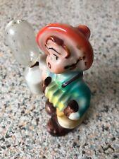 More details for rare vintage antique c1950s german ceramic figurine egg timer