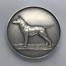 Antique Sterling Silver Bull Terrier Club Championship Watch Fob Medal 1925