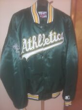 STARTER Vintage OAKLAND ATHLETICS Authentic DIAMOND COLLECTION Bball Jkt Lg MINT