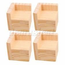 4pc 5cm Lift Height Furniture Table Lifter Sofa Bed Riser for 6x6CM Feet