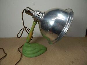 ART DECO Electric DESK LAMP great GREEN color