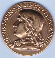 Médaille,DENIS PAPIN 1647-1714 SYNDICAT DES INDUSTRIES MECANIQUES DE FRANCE 1839