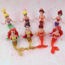 8Pcs Little Mermaid Princess Colorful PVC Figure Set 9cm-11cm Movable Set Loose