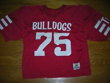 """Vintage game worn football jersey, """"Bulldogs"""" over 25 y/o. very neat item"""