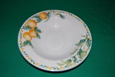Large Rim Soup Bowl in Country Fruit by Avon Very Good Condition +