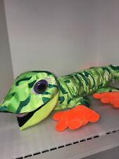 Plush Gecko Lizard Reptile Toy Factory Jumbo Xl 40� Long Green/Orange