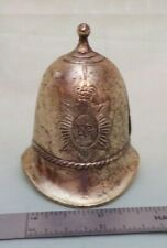 VINTAGE ENGLAND METRO POLICE HELMENT SHAPED BELL