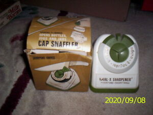 Vintage Dial-x-sharpener Dial A Perfect Edge Knife Sharpener Used/With Box