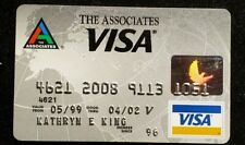 The Associates Visa credit card exp 2002♡Free Shipping♡cc883