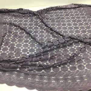 Purple/Mauve Handcrafted Crochet Bedspread Double Size #546