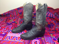 VINTAGE ADAMS EXOTIC AFRICA WESTERN RARE COWBOY RODEO RANCH WORK BOOTS 8,5 M
