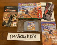 STAR WARS ROGUE SQUADRON Nintendo 64 - Complete in Box N64 - Tested & Working!