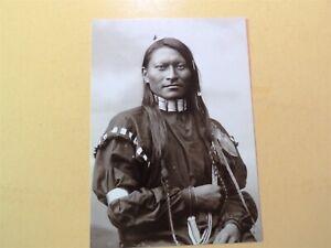 Red Sleeve (Red Armed Panther) Cheyenne at Fort Keogh Montana vintage postcard