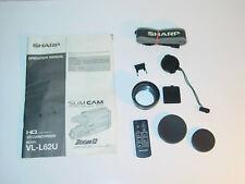 Sharp Slim Cam Vl-L62U Accessories / Lens + Remote + Manual Camcorder Tape Vhs