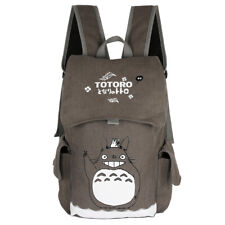 Anime Totoro Cute Canvas Backpack Rucksack Grey Shoulder Bag School Bag
