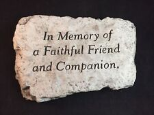"Vintage 1959 ""In Memory of a Faithful Friend and Companion"" Stepping Stone"