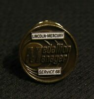 1968 LINCOLN MERCURY SERVICE MEDALLION MANAGER 10K GOLD FILLED PIN Vintage Auto
