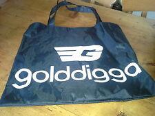 Golddigga Black Nylon Bag