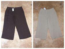 NWT LOT OF 2 Size 10 J. Jill Brown Tan Silk Linen Capri Cropped Pants