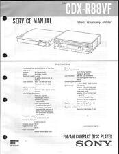 Sony Original Service Manual für CAR CDX-R 88 VF