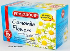 Camomile Flowers Tea bags Teekanne Pompadour 6 boxes 120 tea bags Finest 100%