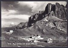 BOLZANO BOZEN PASSO GARDENA 02 Grödner Joch Cartolina FOTOGRAFICA viaggiata 1962