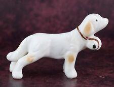 Bone China Miniature Saint St Bernard With Barrel Dog Figurine