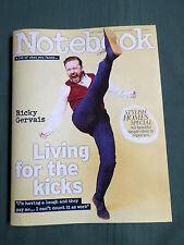 NOTEBOOK  - UK SUNDAY MAGAZINE - 13 APRIL 2014 - RICKY GERVAIS - EMILIA FOX