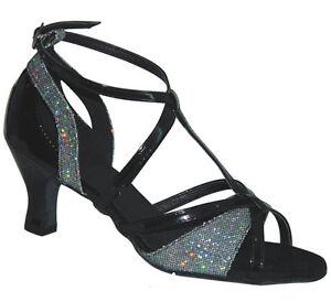 Ladies Dance Shoes Ballroom Latin Salsa Line UK 3 - 8